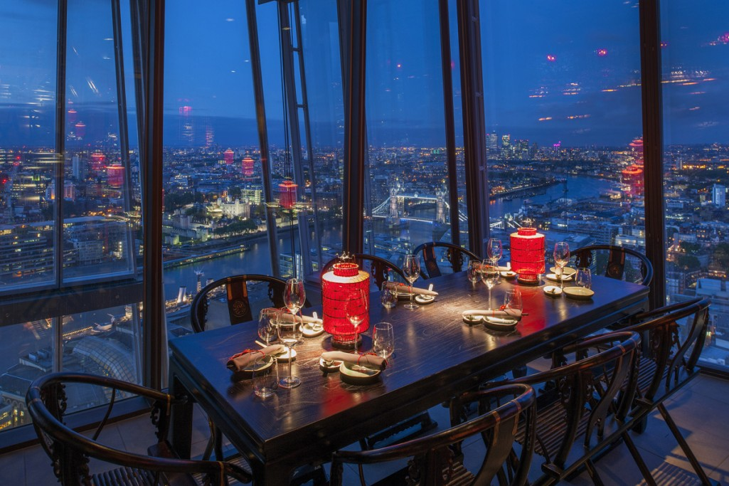 Into lighting hutong at the shard london for Restaurants at the shard