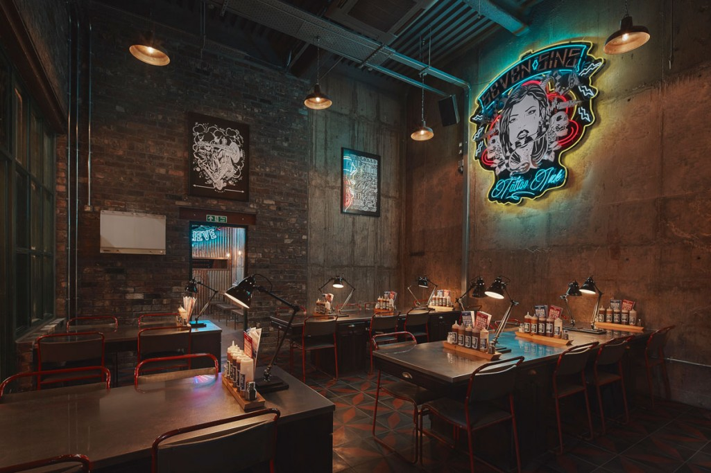 into lighting design scheme for red's true bbq in nottingham