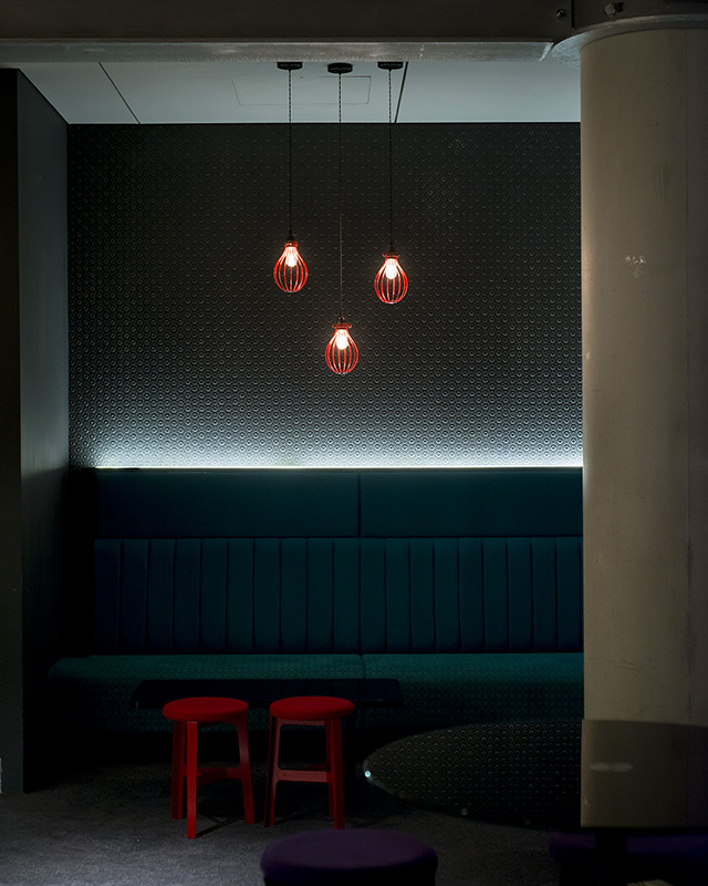 lighting design by into lighting of an area within the VIP Lounge at The 02