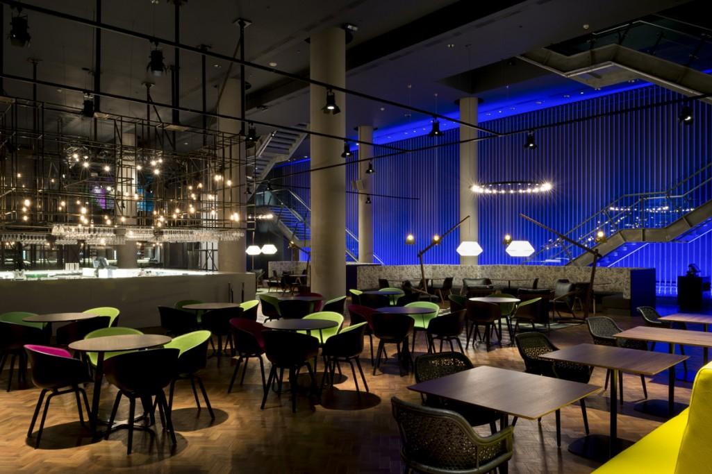 lighting design at The 02 Arena VIP Lounge by into lighting