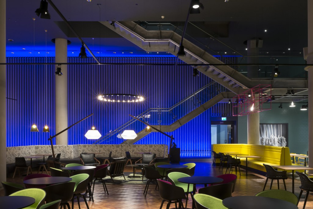 The AEIL VIP Lounge at The 02 Arena London. Lighting design by into lighting