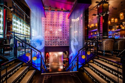 into lighting design of entrance area at buddha bar london