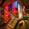 lighting design of lower ground stairwell at buddha bar london by into lighting
