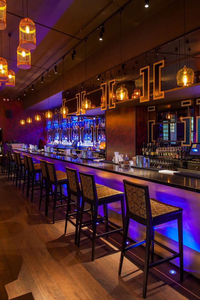 bar area lighting design at buddha bar by into lighting