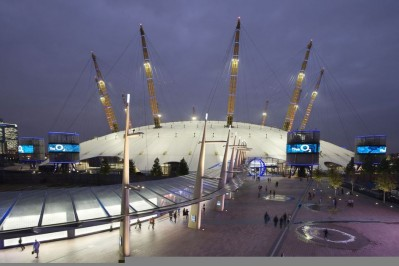 Exterior of The 02 Arena London